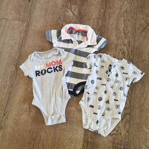 2/$15 baby boy onesie bundle 3-6 M